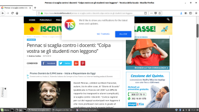 SCreenshot tratto da tecnicadellascuola.it